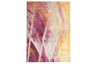 Divinity Strokes Violet Modern Rug