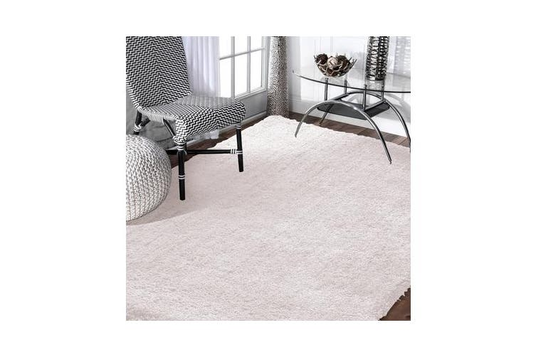 Luxury Soft Plush Thick Rectangle Shaggy Floor Rug BEIGE 200x300cm