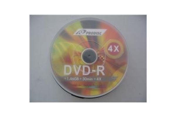 Prodisc 8cm Mini DVD-R 4X 1.4GB 100 pcs Cake Box BULK White Inkjet