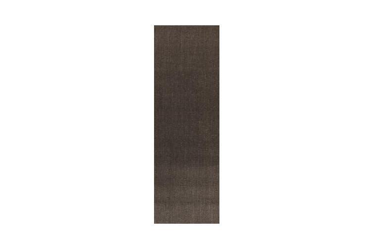 Natural Sisal Rug Boucle Charcoal 400x80cm