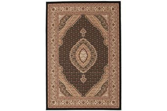 Stunning Formal Oriental Design Rug Black 230x160cm