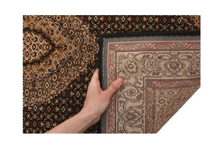 Stunning Formal Oriental Design Rug Black 230x160cm