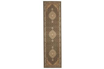 Stunning Formal Oriental Design Runner Green