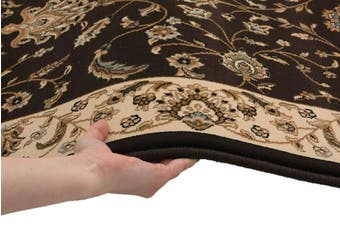 Stunning Formal Floral Design Rug Brown