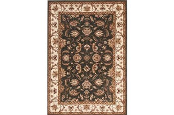 Stunning Formal Floral Design Rug Green