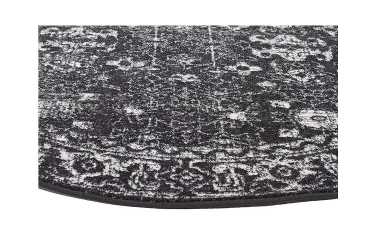 Estella Charcoal Transitional Rug 150x150cm