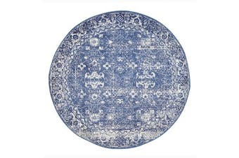 Oasis Navy Transitional Rug 150x150cm