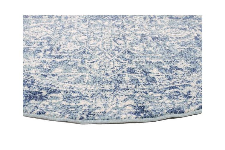 Muse Blue Transitional Rug 240x240cm