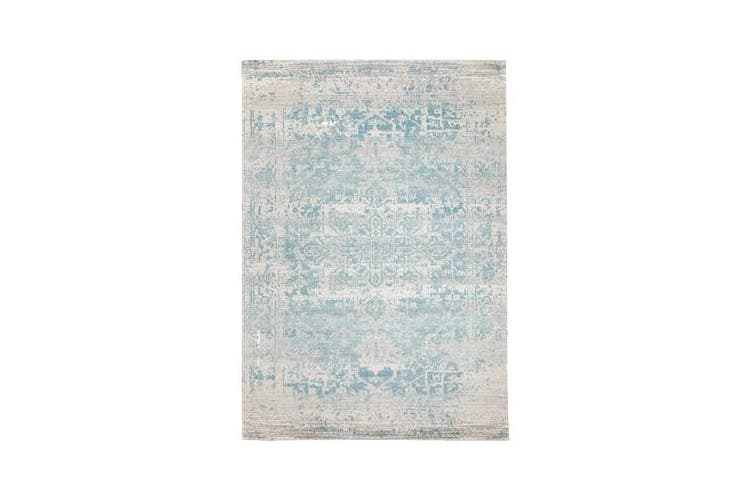 Glacier White Blue Transitional Rug 290x200cm