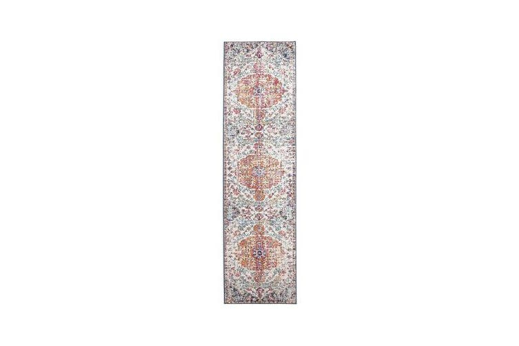 Carnival White Transitional Rug 400x80cm