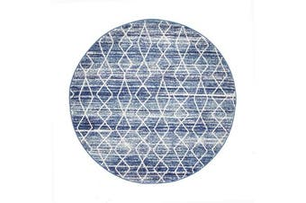 Culture Blue Transitional Rug 200x200cm