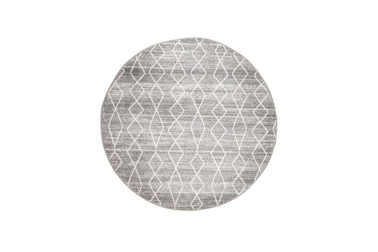 Remy Silver Transitional Rug 200x200cm