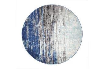 Transpose Blue Transitional Rug 200x200cm