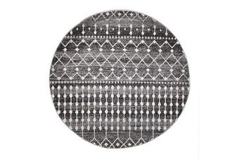 Simplicity Black Transitional Rug 150x150cm