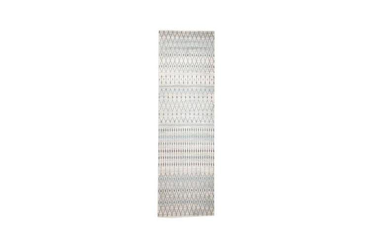 Slate White Transitional Rug 300x80cm
