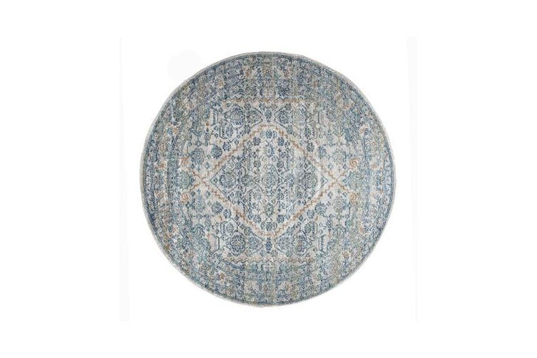 Duality Silver Transitional Rug 150x150cm
