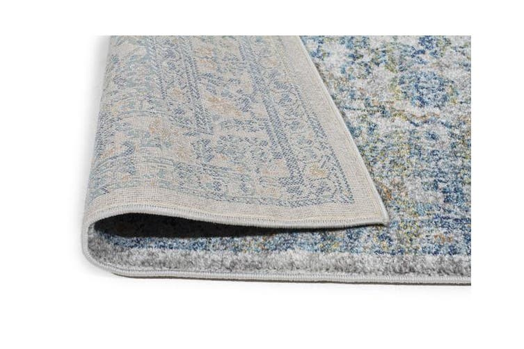 Duality Silver Transitional Rug 400x80cm