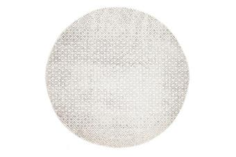 Diamond Grey Transitional Rug 200x200cm