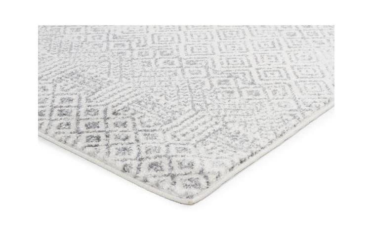 Diamond Grey Transitional Rug 230x160cm