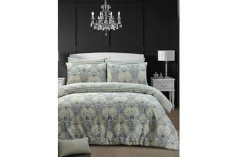 Style & Co 100 % Cotton Reversible Quilt Cover Set Single Grandiose