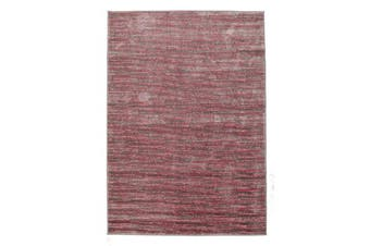 Pandora Contemporary Stripe Rug Pink Grey