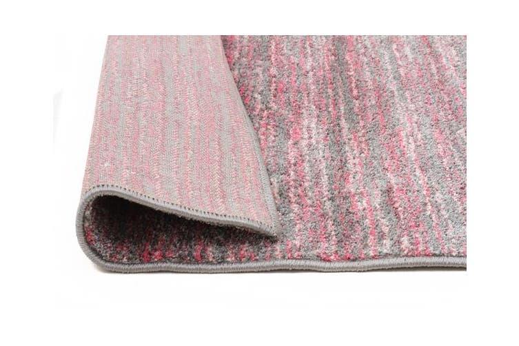 Pandora Contemporary Stripe Rug Pink Grey 230x160cm