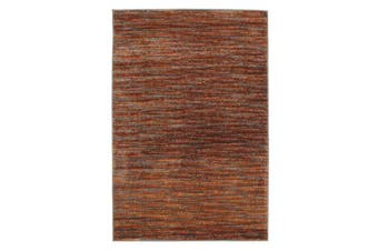 Pandora Contemporary Stripe Rug Aubergine Grey 330x240cm