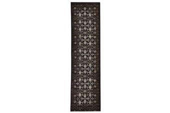 Royal Kashan Designer Rug Chocolate Brown 400X80cm