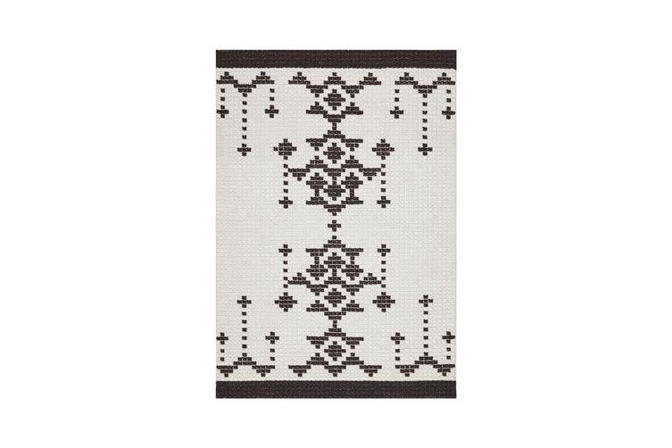 Ryder Monochrome Cross Stitch Wool Rug 280x190cm