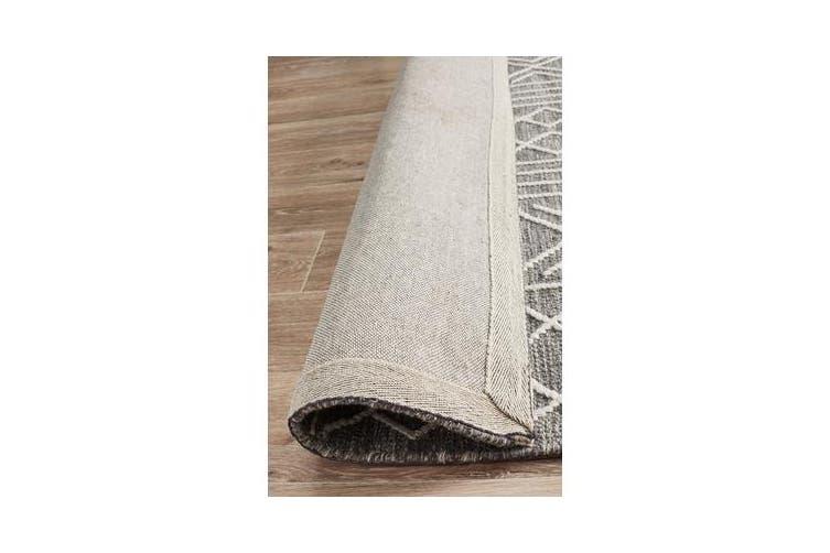 Ryder Grey & White Wool Textured Rug 280x190cm