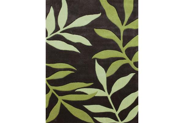 View more of the Stunning Leaf Design Rug Lime Charcoal 280x190cm