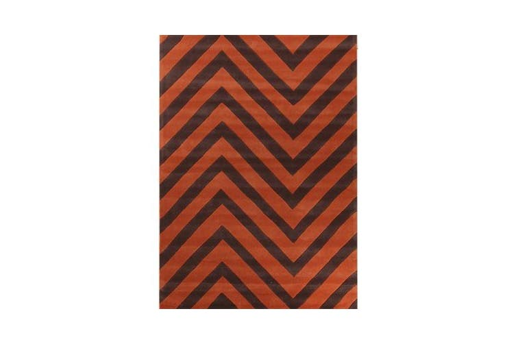 Chevron Jaffa Orange Rug 165x115cm