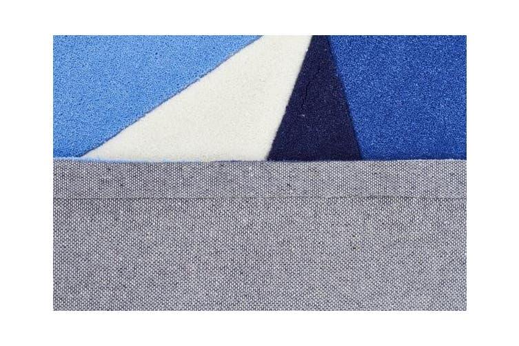 Blue Crystal Prism Rug  225x155cm