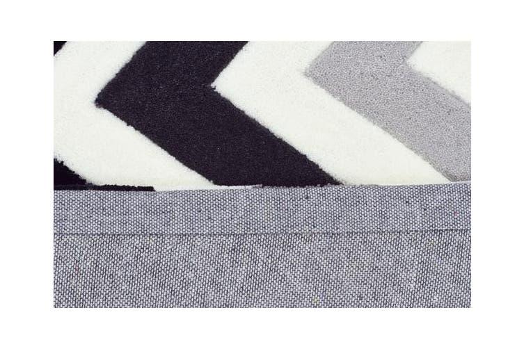 Cross Roads Design Rug Charcoal Grey 225x155cm