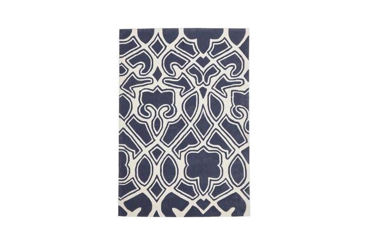 Gothic Tribal Design Rug Slate 225x155cm