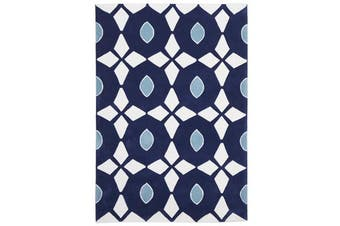 Navy and Yellow Nest Rug 165x115cm