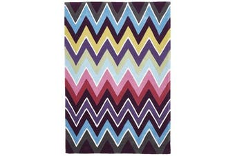 Eclectic Chevron Rug Multi Coloured 165x115cm