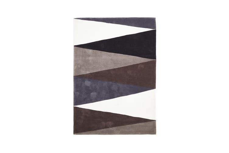 Cascade Modern Rug Brown Grey 165x115cm