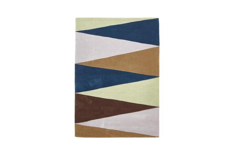 Cascade Modern Rug Blue Green Brown 225x155cm