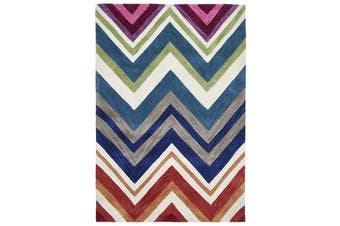 Abrash Chevron Rug Multi Coloured 225x155cm