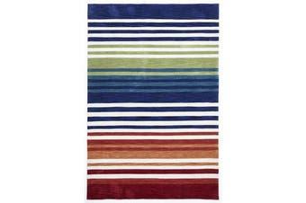 Modern Abrash Stripes Rug Multi Rust 225x155cm