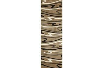 Modern Swirls Rug Beige