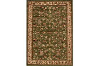 Traditional Floral Pattern Rug Green
