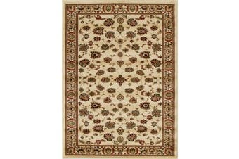 Traditional Floral Pattern Rug Ivory