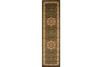 Medallion Classic Pattern Runner Rug Green