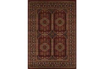 Traditional Afghan Design Rug Burgundy Red 400x300cm