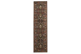 Nain Persian Design Rug Brown Red 500x80cm