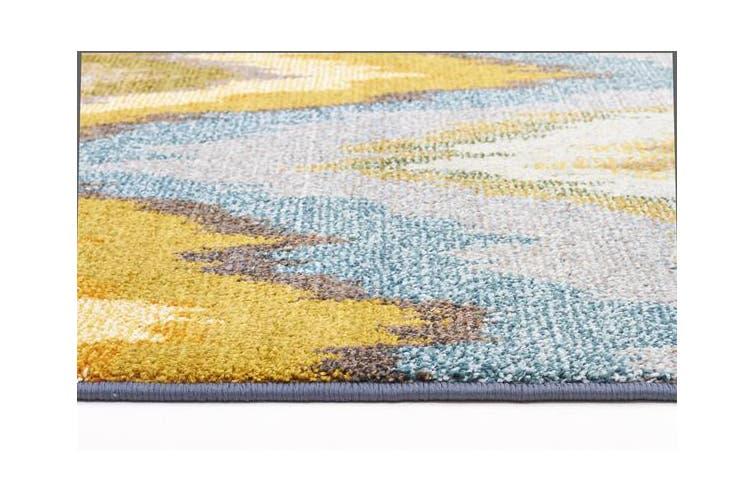 Designer Ikat Rug Blue 330x240cm