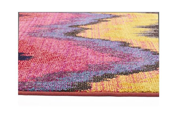 Designer Ikat Rug Pink 330x240cm