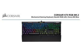 Corsair K70 MK.2 RGB Gaming™ Cherry MX Blue, Backlit RGB LED, Aluminium Frame Mechanical Keyboard.